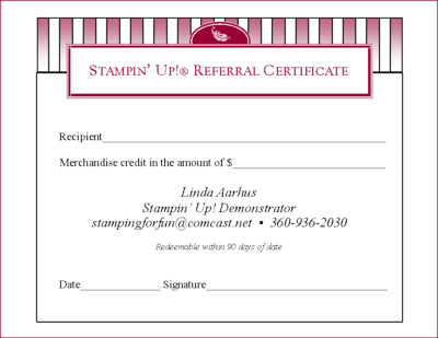 Referral Certificate