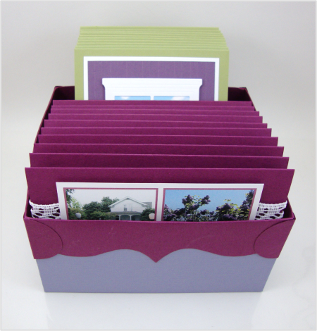Lilac Cards Box