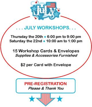 July Workshops