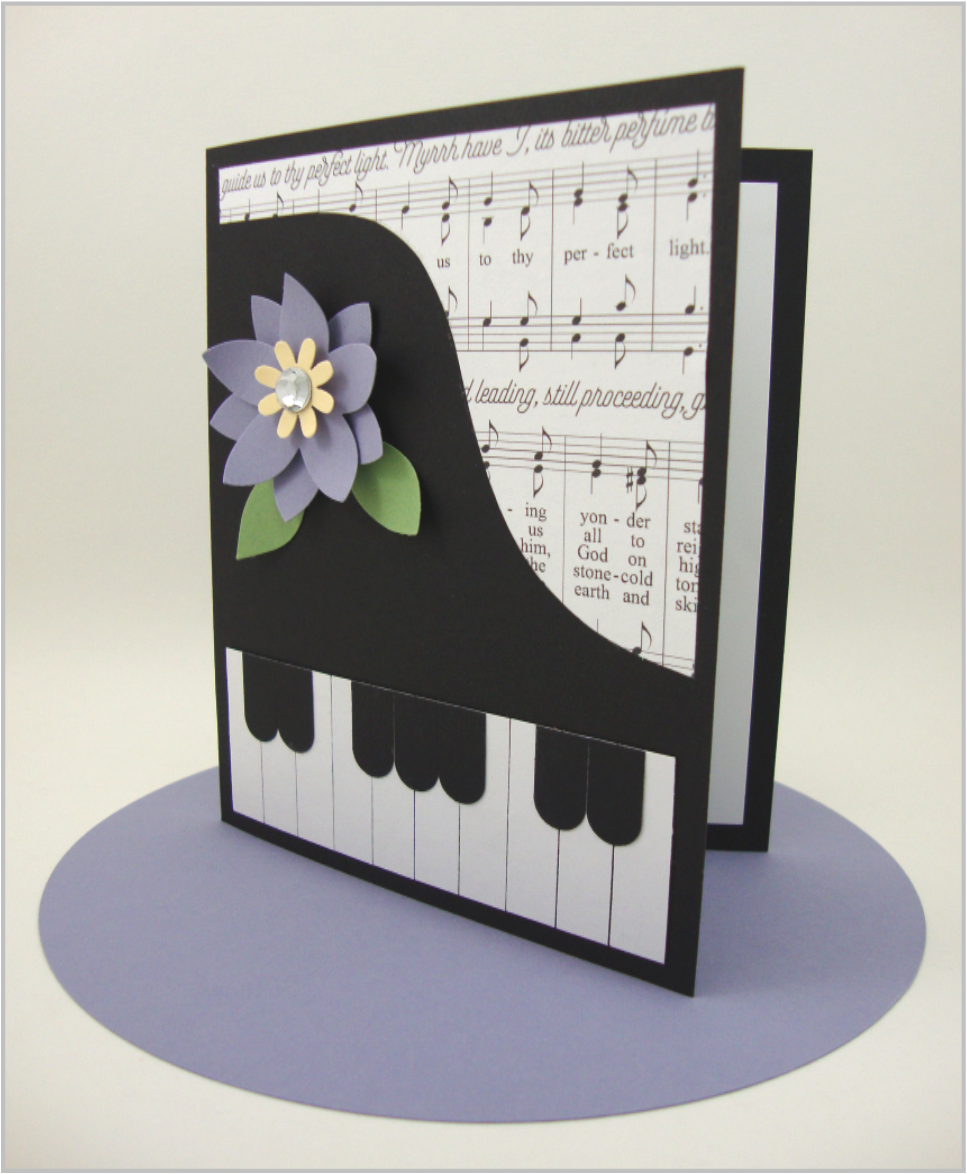 I Kept On Keeping And Made A GRAND PIANO CARD KIT One Piano Card Grew Into Five Colorful Pages With Beautiful Step By