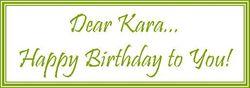 Dear Kara