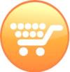 Orange piggy cart