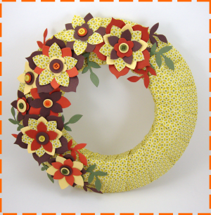 Artsy Autumn Deco Wreath