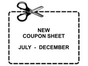 New coupon