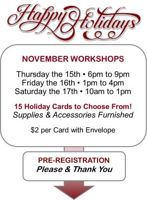HH Workshop Schedule