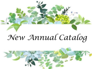 New Annual Catalog