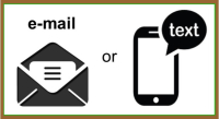 Email or text-brown