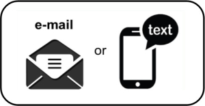 Email or Text Black
