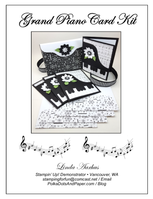 Grand Piano Card Kit Flyer