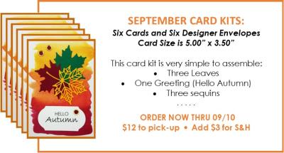 NL September Card Kit