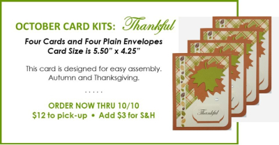 NL October Card Kit